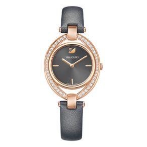 Reloj-Stella-Correa-de-piel-gris-oscuro-tono-oro-rosa