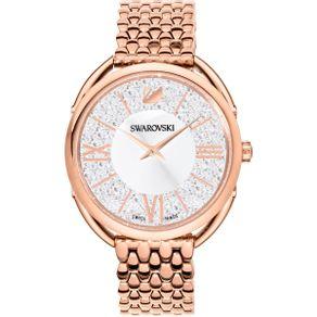 Reloj-Crystalline-Glam-Brazalete-de-metal-blanco-tono-oro-rosa