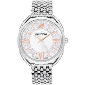 Reloj-Crystalline-Glam-Brazalete-de-metal-blanco-tono-plateado