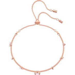 Pulsera-One-multicolor-baño-de-oro-rosa