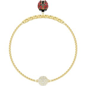 Swarovski-Remix-Collection-Ladybug-Strand-multicolor-baño-de-oro