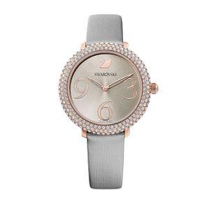 Reloj-Crystal-Frost-Correa-de-piel-gris-PVD-en-tono-Oro-Rosa