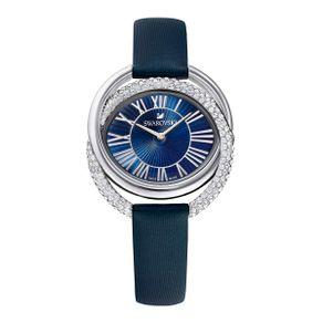 Reloj-Duo-Correa-de-piel-azul-acero-inoxidable
