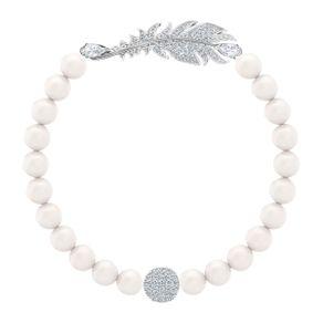 Pulsera-Nice-Pearl-blanco-Baño-de-Rodio