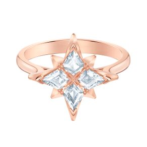Anillo-con-motivo-Swarovski-Symbolic-Star-blanco-Baño-en-tono-oro-rosa