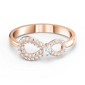 Anillo-Swarovski-Infinity-blanco-baño-tono-oro-rosa